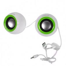 Колонки акустические OMEGA 2.0 OG-116B white green
