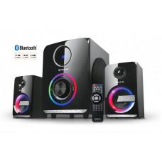 Колонки REAL-EL M-580 58Вт, Bluetooth, USB, SD, FM, ДУ