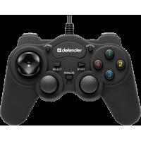 Проводной геймпад Defender Game Racer Turbo RS3 USB-PS2-3