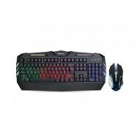 Клавиатура и мышка REAL-EL Gaming 9500 игровые с подсветкой