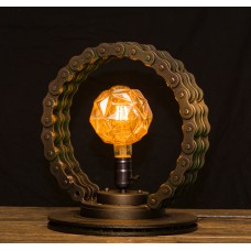 Декоративная настольная лампа стимпанк лофт Metal Ring